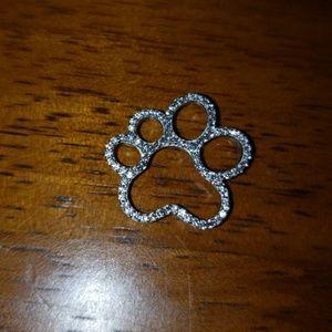 925 silver paw print pendant